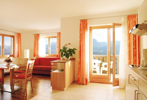 La zona giorno Hotel + Residence Sonnenhof