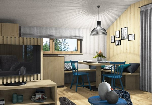 La zona giorno Appartamenti in agriturismo Birkenhof