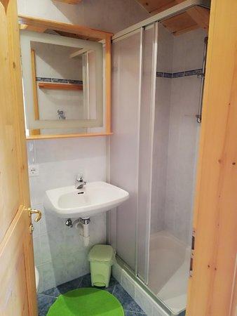 Foto del bagno Appartamenti in agriturismo Lienelehof