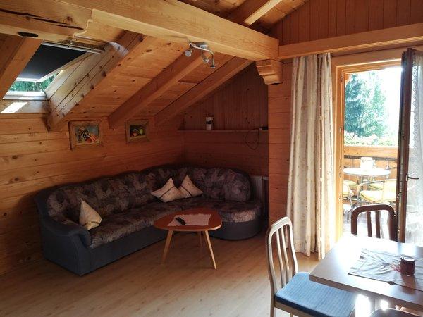 La zona giorno Appartamenti in agriturismo Lienelehof
