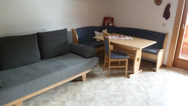 La zona giorno Appartamenti in agriturismo Pfeiferhof