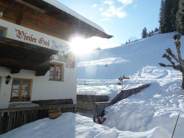 Foto esterno in inverno Pfeiferhof