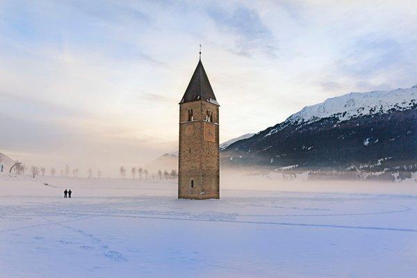 Photo exteriors in winter Area Vacanze Val Venosta