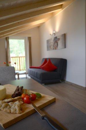 La zona giorno Residence Falgerhof