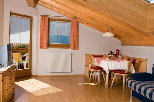 La zona giorno Appartamenti in agriturismo Zeppenhof