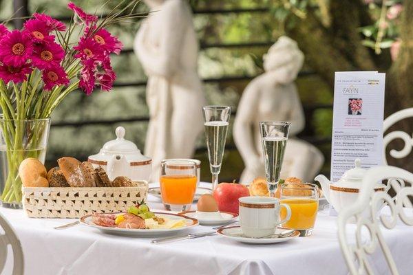 La colazione FAYN garden retreat hotel - Hotel 4 stelle sup.