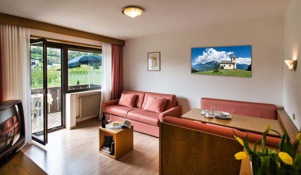 La zona giorno Steinach - Residence 2 stelle