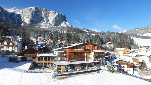 Foto invernale di presentazione Hotel Gran Ander