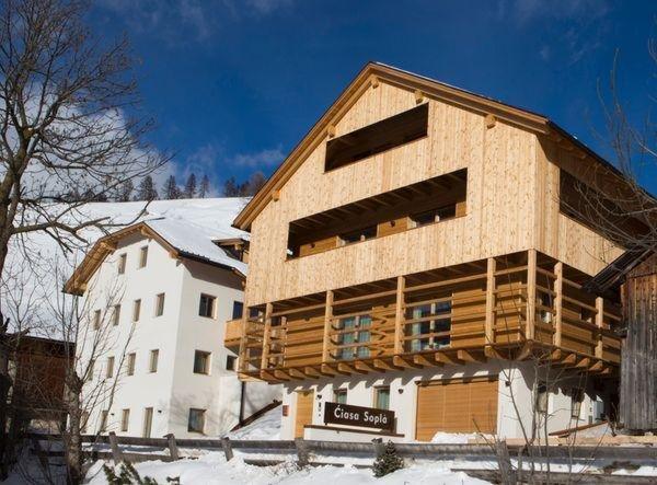 Foto invernale di presentazione Appartamenti Ciasa Soplà