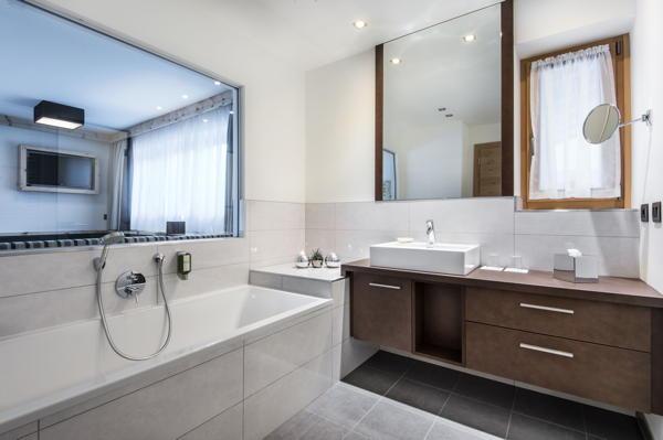 Foto del bagno Dolomites Hotel La Fradora