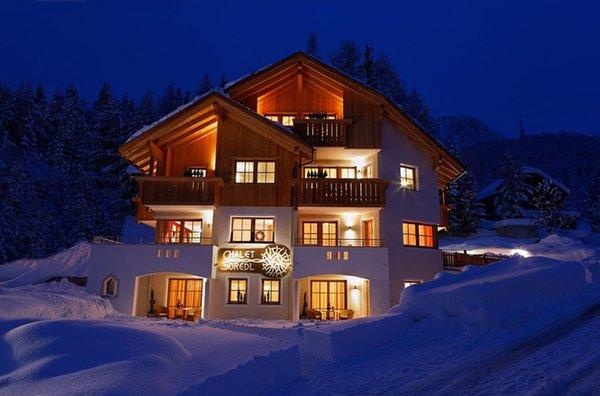 Foto invernale di presentazione Chalet Sorëdl - Appartamenti 3 soli