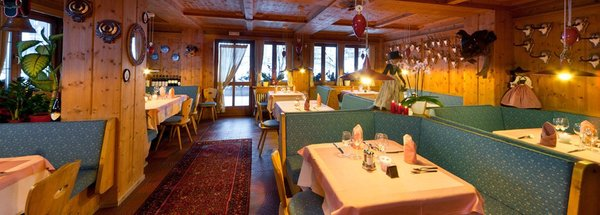 The restaurant La Villa Ladinia