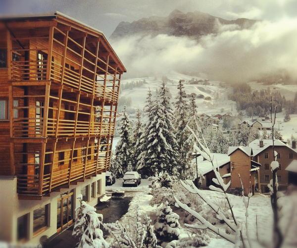 Foto Außenansicht im Winter Melodia del Bosco