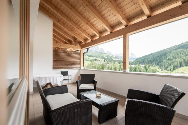 Photo of the balcony Alpine Hotel Ciasa Lara