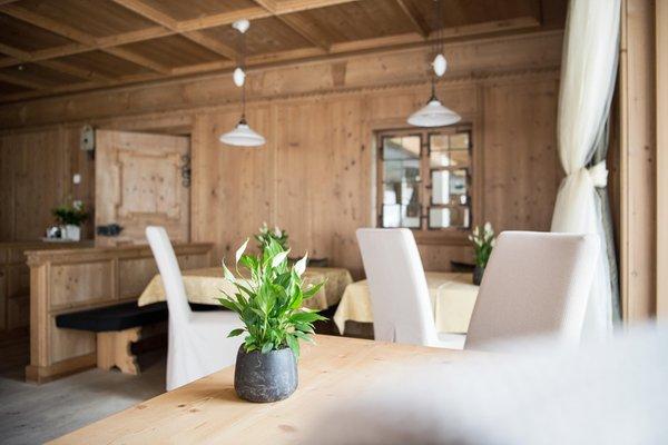 Il ristorante La Villa Alpine Hotel Ciasa Lara