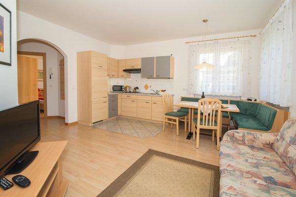La zona giorno Appartamenti in agriturismo Angerheim