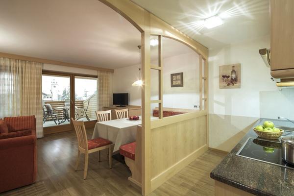 Der Wohnraum Ciasa Vilin - Ferienwohnungen 3 Sonnen