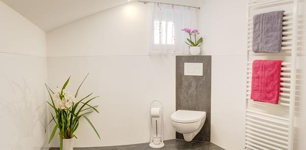 Foto del bagno Appartamenti in agriturismo Sonnhof