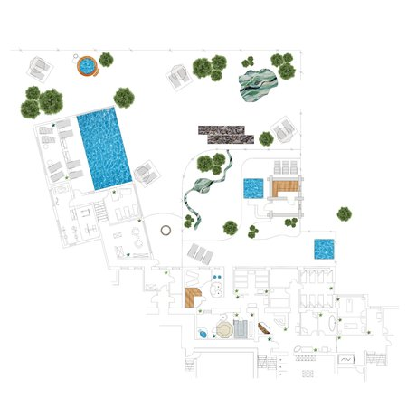 The floor plan Alpine Wellness Berghotel Jochgrimm