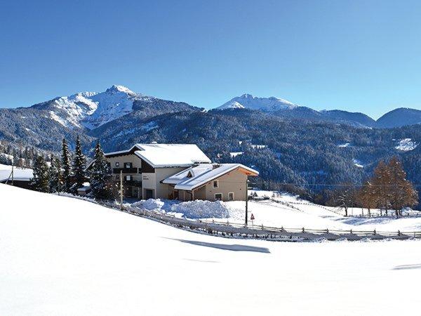 Foto esterno in inverno Scheidnerhof