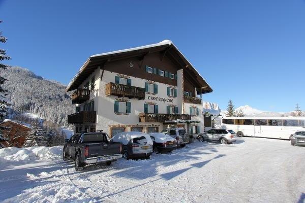 Foto invernale di presentazione Albergo Cime Bianche