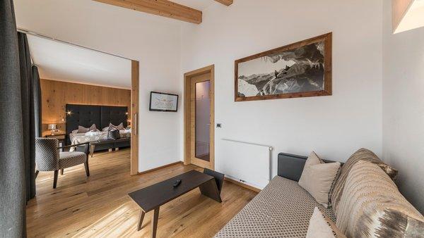 The living area Hotel Ciasa Soleil