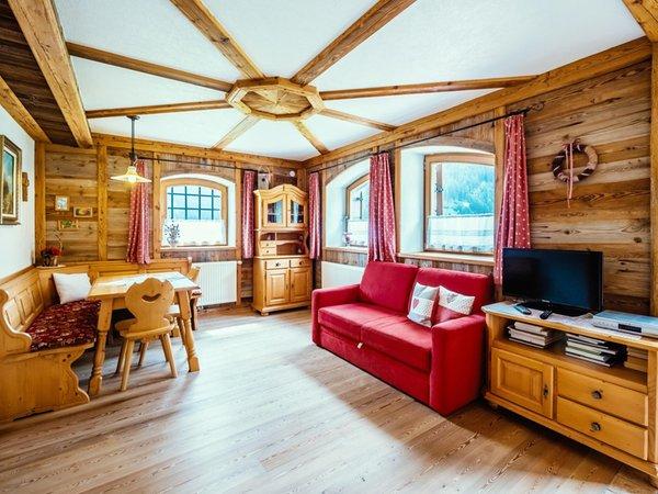 Der Wohnraum Ferienwohnungen auf dem Bauernhof Thomasegg