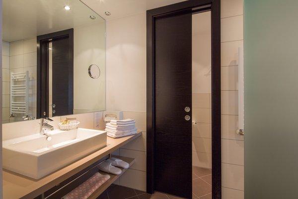 Foto del bagno Hotel Rezia