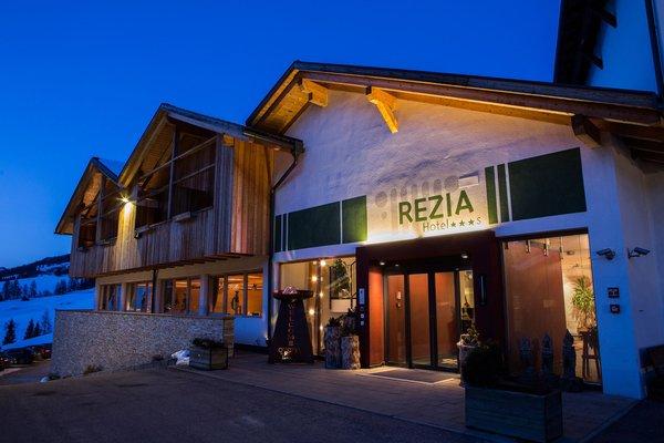 Foto invernale di presentazione Hotel Rezia