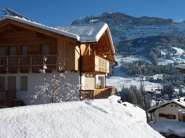 Foto invernale di presentazione Ciasa Lisüra - Appartamenti 2 soli