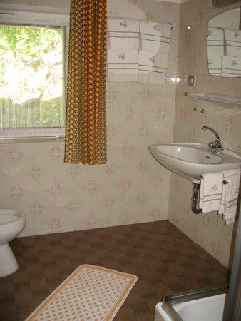 Foto del bagno Appartamenti in agriturismo Tschuffenerlhof