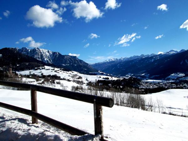 Panoramic view Carano (Val di Fiemme)