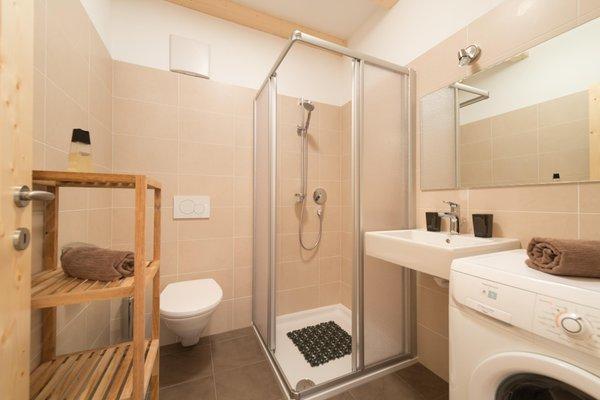 Foto del bagno Appartamenti in agriturismo Riedhof