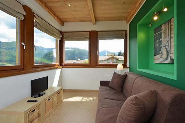 Das Wohnzimmer Ferienwohnungen Villa Prafiori