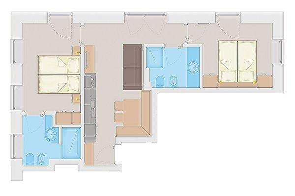 Der Grundrissplan Ferienwohnungen Stelia