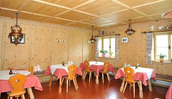 Il ristorante Castelrotto Gasthof Zu Tschötsch