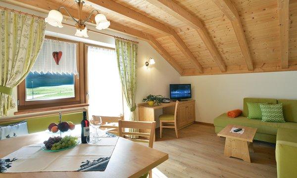 La zona giorno Roderhof - Appartamenti in agriturismo 2 fiori