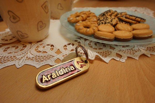 Foto di alcuni dettagli Araldina