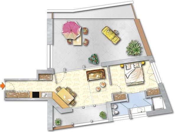 La planimetria Residence Araldina