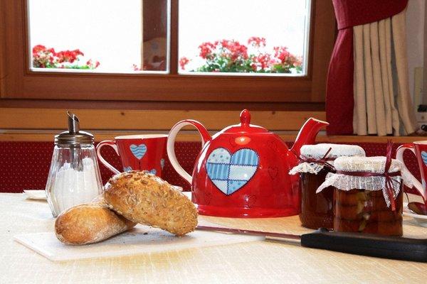 The breakfast Dolomites Apartments Ciasa Vally