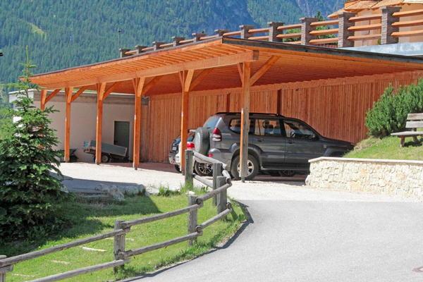 The car park Dolomites Apartments Ciasa Vally