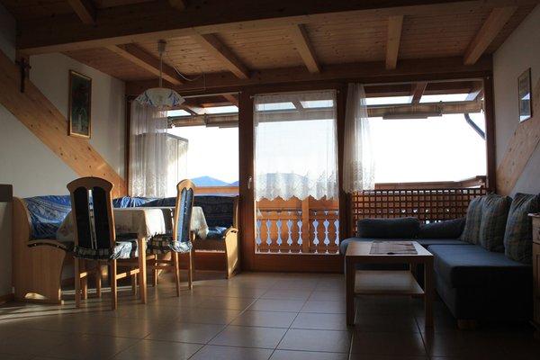 La zona giorno Garni + Appartamenti Birnbamerhof