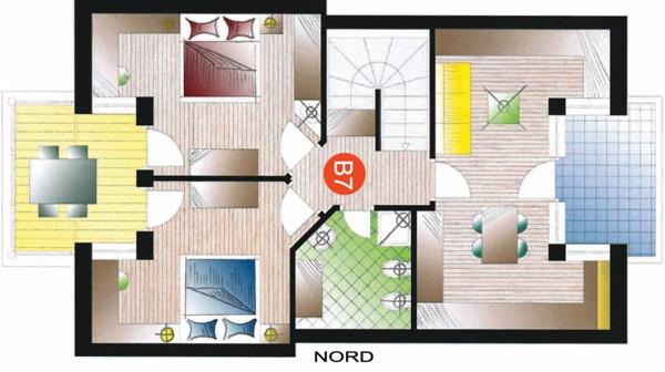 Der Grundrissplan Residence Badia