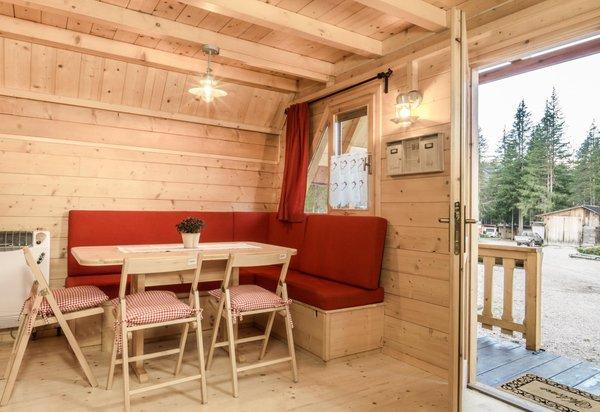 La zona giorno Residence Camping Sass Dlacia