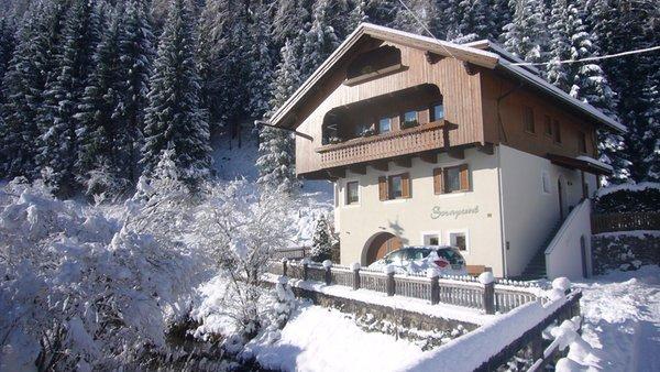 Foto invernale di presentazione Ciasa Sorapunt - Appartamenti 3 soli