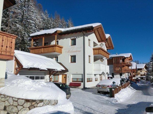 Foto invernale di presentazione Chalet Milandora - Residence 2 stelle