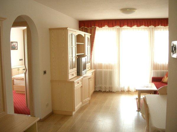 La zona giorno Chalet Milandora - Residence 2 stelle
