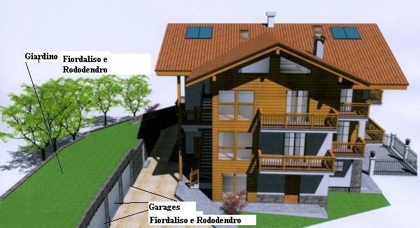La planimetria Appartamenti Rododendro e Fiordaliso
