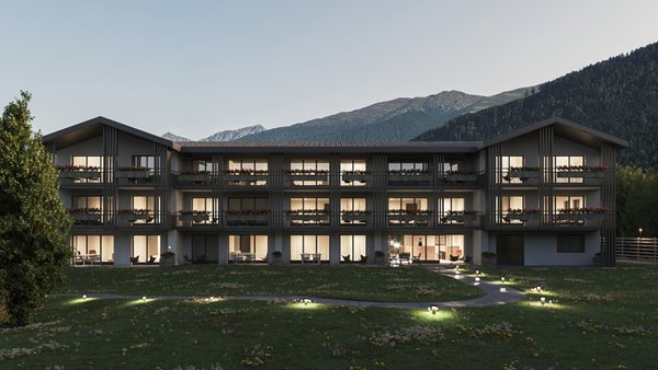 Photo exteriors in summer Dolomites Garden Chalet Kristall