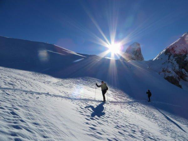 Winter Präsentationsbild Bergführer Dolomiti SkiRock